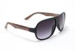 Men's sunglasses in black frame isolated on white