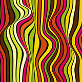 Abstract vector seamless op art pattern with waving lines. Colorful graphic ornament. Striped repeating texture. - 158795306