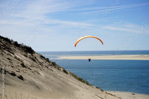 Fotobehang Parapente sur le dune du Pilat