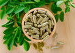 Quadro Moringa leaves and capsules (Herbs for health)