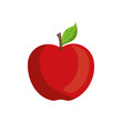 apple fruit icon over white background vector illustration
