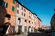 Quadro Brisighella, one of the most beautiful villages in italy. Donkeys' Road