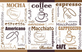 Coffee Background. Seamless coffee pattern.Templates with coffee for flyers, banners, invitations, restaurant or cafe menu design.