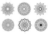 Mandala symbols for coloring