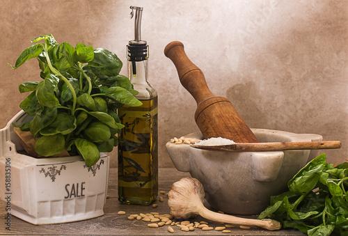 pesto ingredients Poster