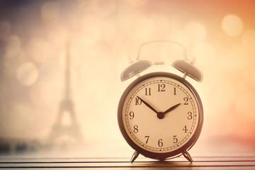 Alarm clock and Eiffel Tower