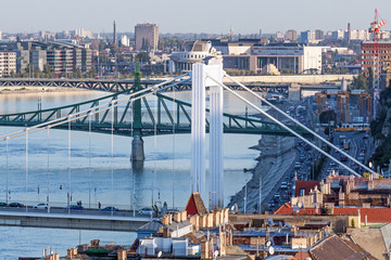 Bridges in Budapest, Hungary