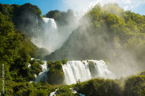Marmore's waterfalls in Umbria - 158853349