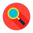 Search Flat Circle Icon