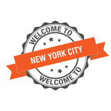 Welcome to New York stamp illustration