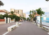FOLLONICA, ITALY - MAY 27, 2017: Beautiful promenade by the sea. Follonica is a famous Tuscany destination