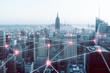 Quadro Netzwerk über Großstadt