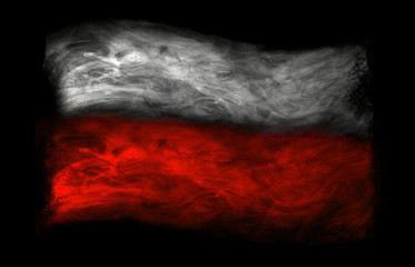 National flag of Poland (photo of colored smoke)