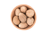 Nutmeg in bowl - 158867915