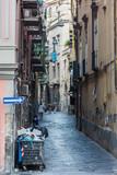 Narrow streets of Naples, Italy