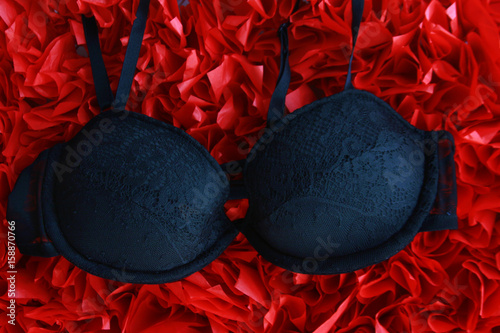 one black lady brassiere. Handmade lingerie © juliko77