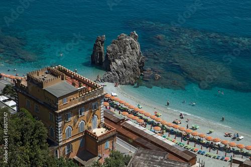 Poster Liguria plage de Monterosso en Italie , Cinque Terre.
