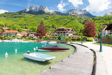 beautiful marina in Talloires village on Lake Annecy, France