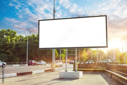 Billboard canvas mock up in...