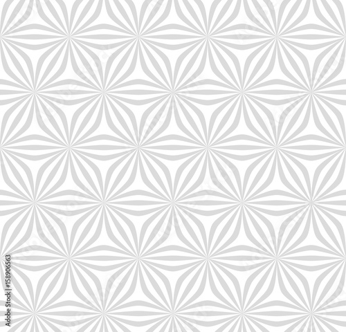 Abstraknyj monochrome pattern of lines and angles. Floral motifs. - 158906563