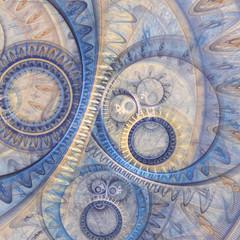 Abstract steampunk design, mechanical design