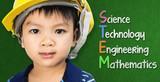 Engineer boy is studying STEM education on black board - 158908379