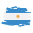 Isolated grunge textured Argentinian flag, Vector illustration