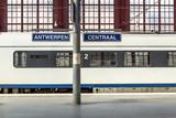 Railway station in Antwerpen Belgium