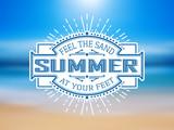 Vinatge summer label
