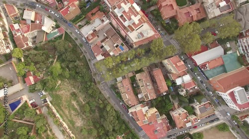 Barcelona, Spain- Aerial shot of the city and landmarks