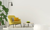 Colorful interior with a yellow armchair - 158951382