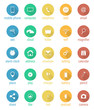 Set of flat vector round icons.