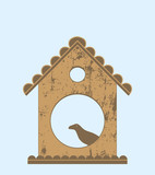 Bird in bird house - 158959157