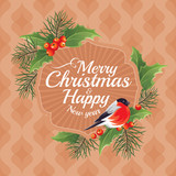 2018 Christmas and Happy New Year greeting card