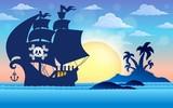 Pirate vessel silhouette theme 5