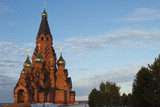 Cathedral in the Siberian town