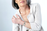 Shoulder pain in an elderly person - 158980935