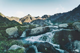 Mountains and Waterfall Landscape Travel serene scenic view