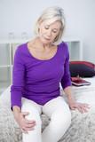 Senior woman with knee pain - 158989587