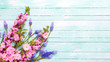 Postcard with spring flowers - 158994520