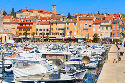 Foto op Canvas Beautiful medieval town of Rovinj, colorful with houses and harbor