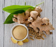 Quadro ginger root and capsules