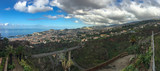 Panoramic view of Funchal, Madeira, Portugal from the top of the cable car