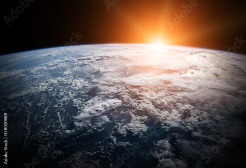 Planet Earth in space 3D rendering elements of this image furnished by NASA