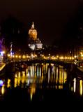 church at night amsterdam
