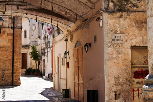 Mesagne, typical alleyway - Puglia, Italy