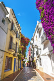Typical old town street in Marbella - 159077103