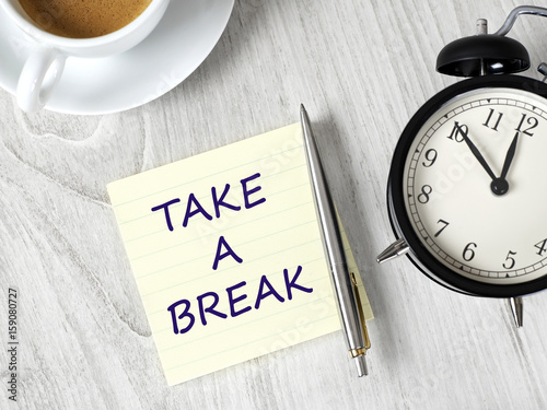 how to take a break for work
