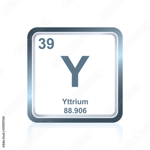 Chemical Element Yttrium From The Periodic Table Buy Photos Ap