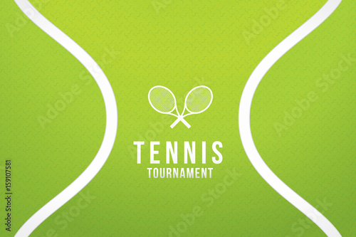 Sport background with tennis tournament. Vector illustration